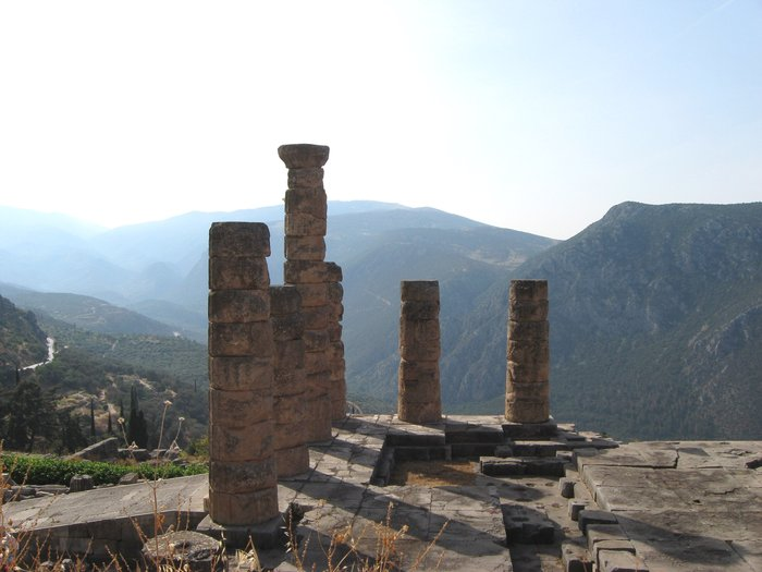 Temple of Apollo in Delphi,